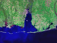 The Mississippi-Alabama barrier islands guarding Mobile Bay and Mississippi Sound