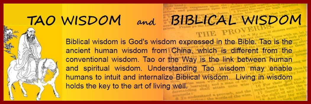Tao Wisdom and Biblical Wisdom