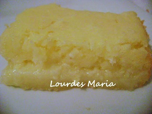 Bolo de Aipim c/Iogurte, Coco e Queijo fácil de fazer da Lourdes Maria.