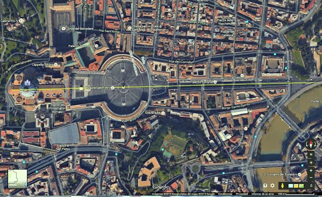 Basilica de San Pedro de Roma orientada hacia la Basilica de Santa Dofia se Constantinopla