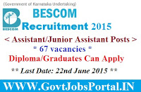 BESCOM Recruitment 2015