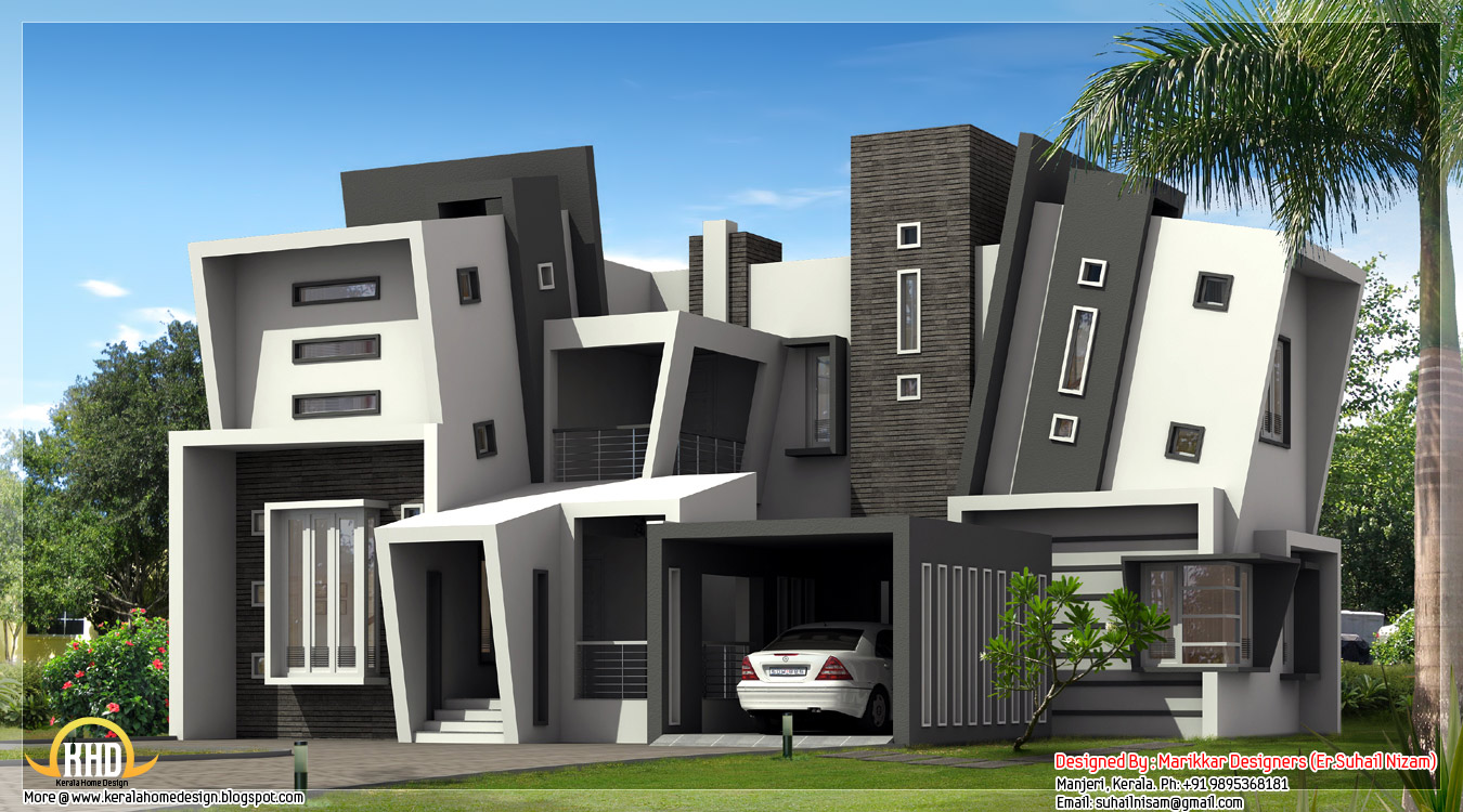 unique and modern house design by marikkar designers manjeri kerala