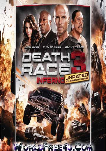 Poster Of Death Race 3 (2013) In Hindi English Dual Audio 300MB Compressed Small Size Pc Movie Free Download Only At worldfree4u.com