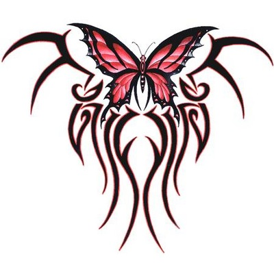 Prince tattoo tribal feminino - Tribal papillon ...