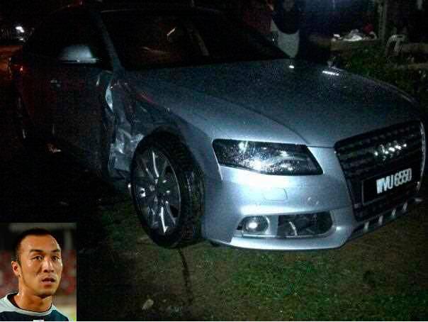 Gambar Kereta Audi Khairul Fahmi atau Apek Kemalangan