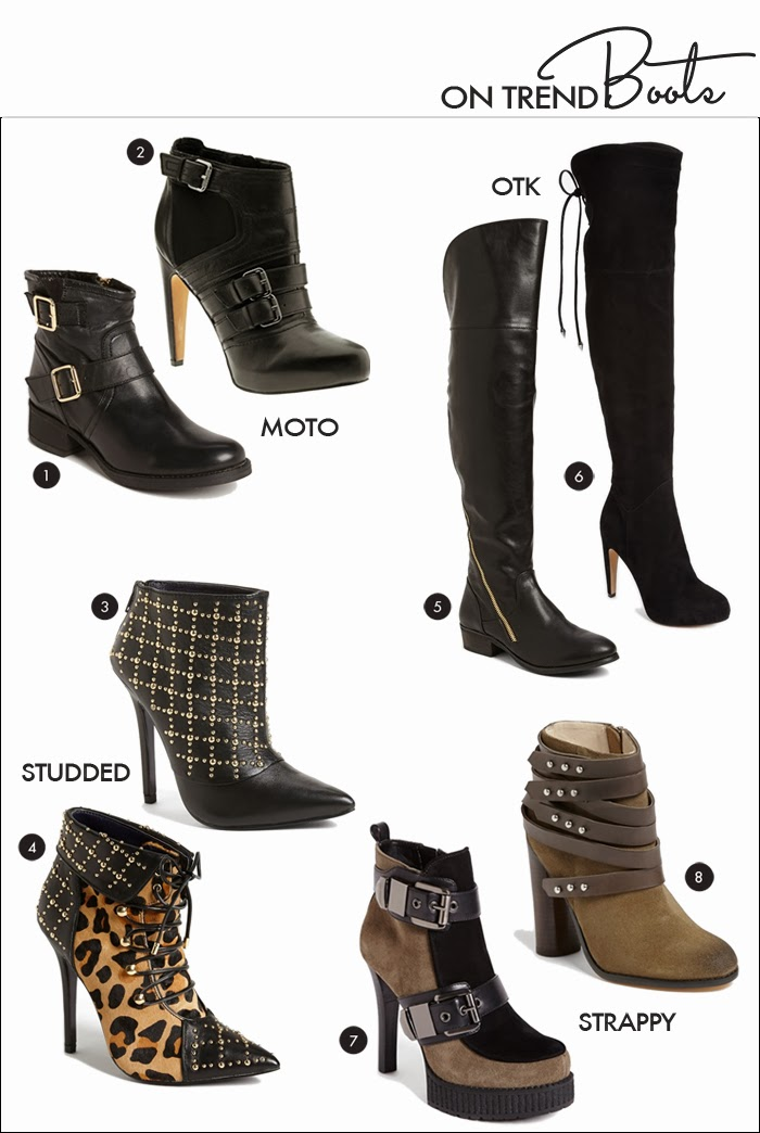 Piperlime, Nordstrom, strappy boots, moto boots, otk boots, over the knee, sam edelman, leopard, studded, joe's, steve madden
