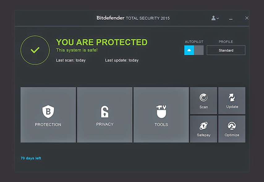 screenshot Bitdefender Total Security 2015 Full Crack