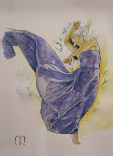 dancing in the night watercolors by metris