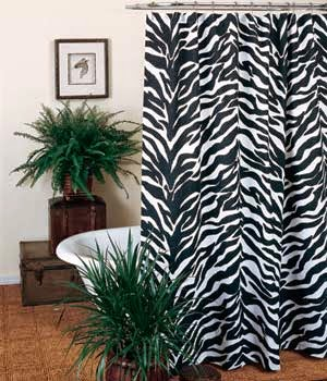 Beautiful Shower Curtains with Black and White Theme
