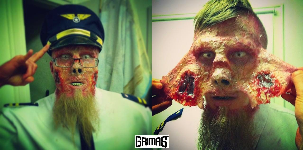 "Zombie-captain: Matti Kiviniemi. ""LORDI - SCARE FORCE ONE"" music video. Makeup FX: Ari Savonen."