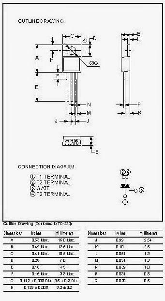 BCR10CM-12L Triac TO-220