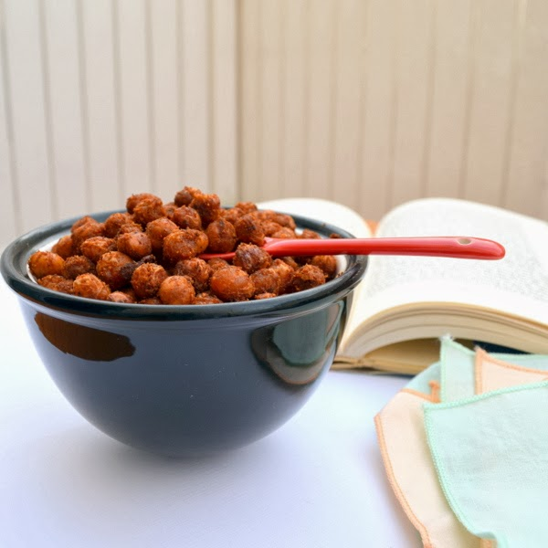 Happily Spiced: Crispy Spicy Chickpeas