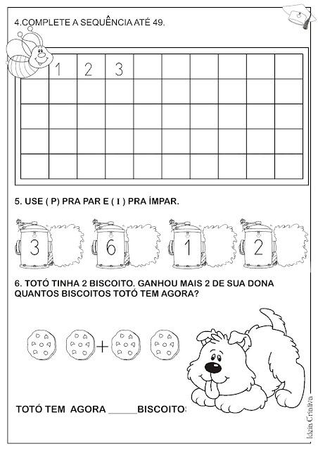 Avaliações Matemática Educação Infantil