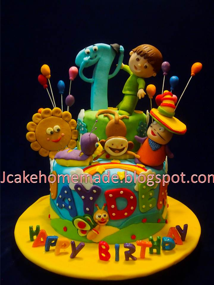 Jcakehomemade Baby TV birthday cake
