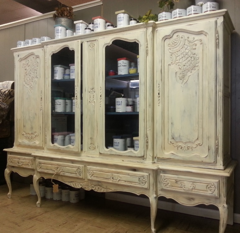 cabinet painted chalk after china before using beyond my hutch makeover paint and