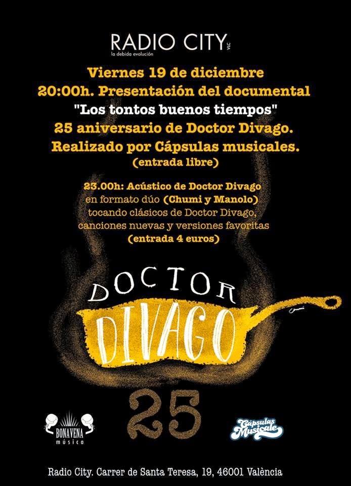 Los tontos buenos tiempos, el documental sobre DOCTOR DIVAGO en su 25 aniversario