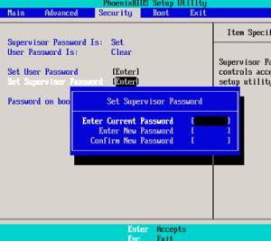 proteggere con password il BIOS