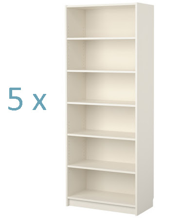standard bookcase shelf spacing 3