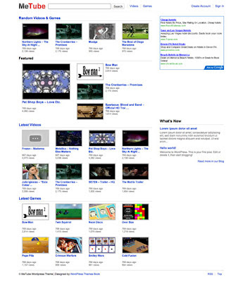 metube youtube clone wordpress theme