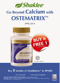 PROMO APRIL 2014 - OSTEMATRIX SHAKLEE