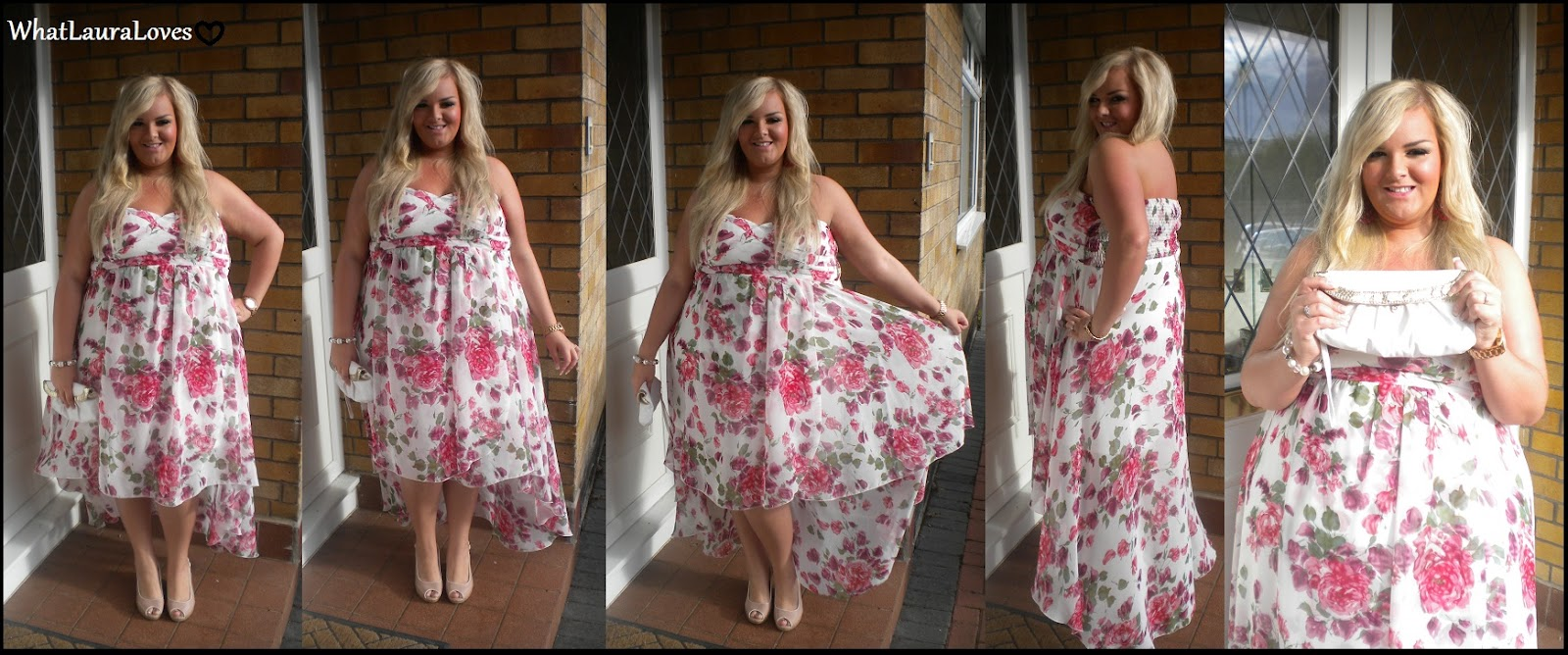 WhatLauraWore Floral Drop Back Dress On Saturday I Attended A Wedding