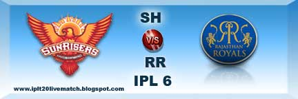 SRH vs RR Highlight Match SRH vs RR Full Scorecards IPL 6 Point Table