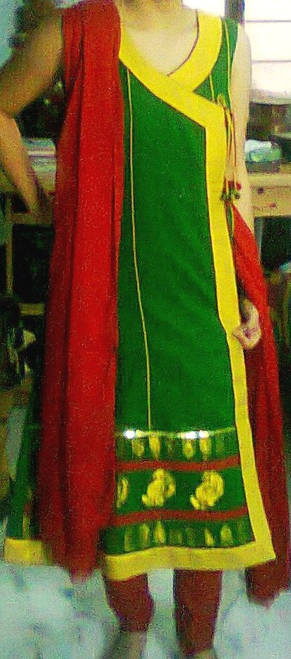 traditional angrakha suit
