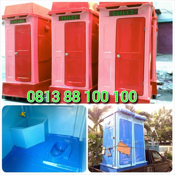 portable toilet fibreglass ramah lingkungan, flexible toilet, septic tank biotech