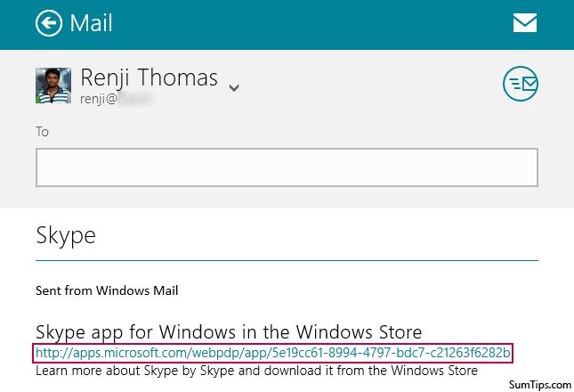 Windows Store App Link