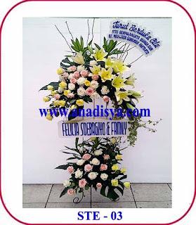 bunga duka cita ke dharmais