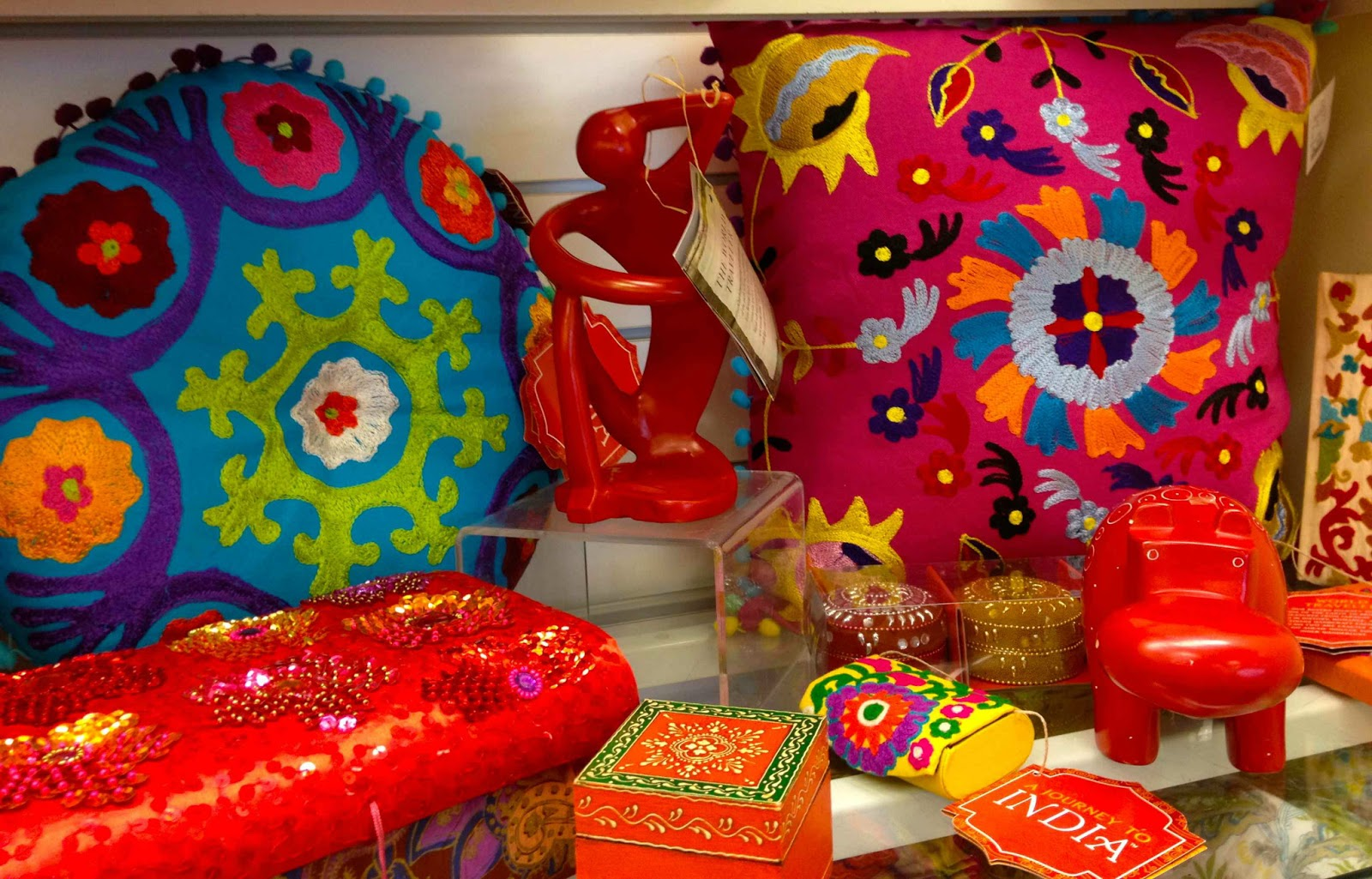 including colorful pillows. Inspiration  India at HomeGoods   Driven by Decor
