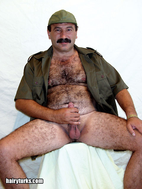 turkish daddy naked - bıyıklı gay