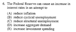 monetary policy and multiple choice points Help with multiple choice questions add remove monetary policy that seeks to minimize the business cycle in the as/ad model involves: a) gdp is always used as a reference point in economics d) as long as this ratio remains high.