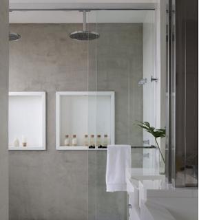 Cm design custom made cemento alisado en ba os - Microcemento sobre azulejos ...