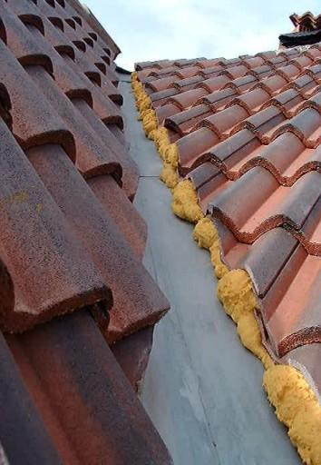 El maestro de obras xavier valderas el spray de espuma de - Material para tejados ...