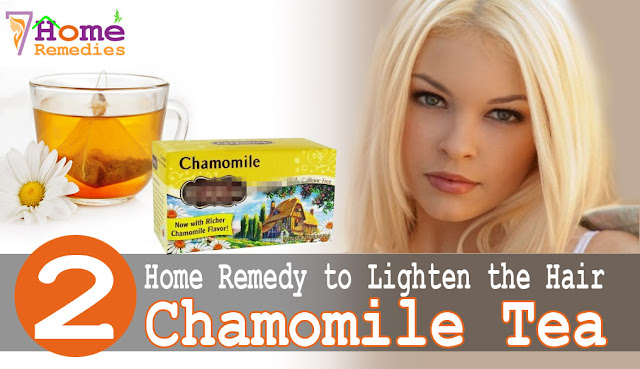 Chamomile tea to lighten your hair