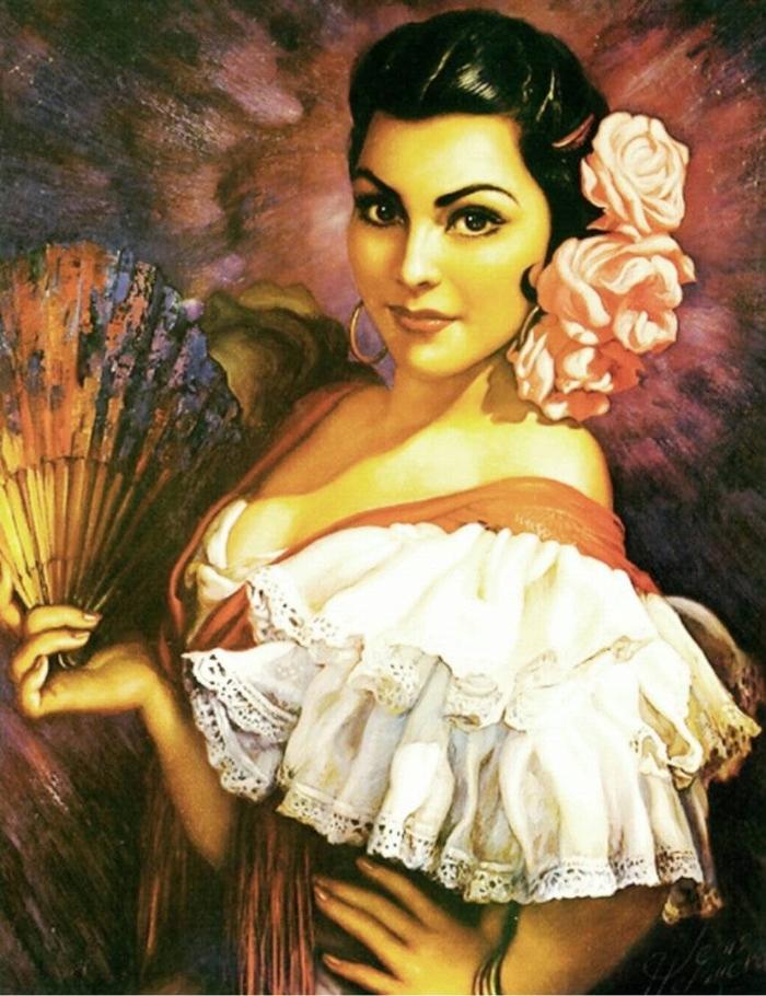 Art Calendar La : Jesús enrique helguera mexican classical painter fine