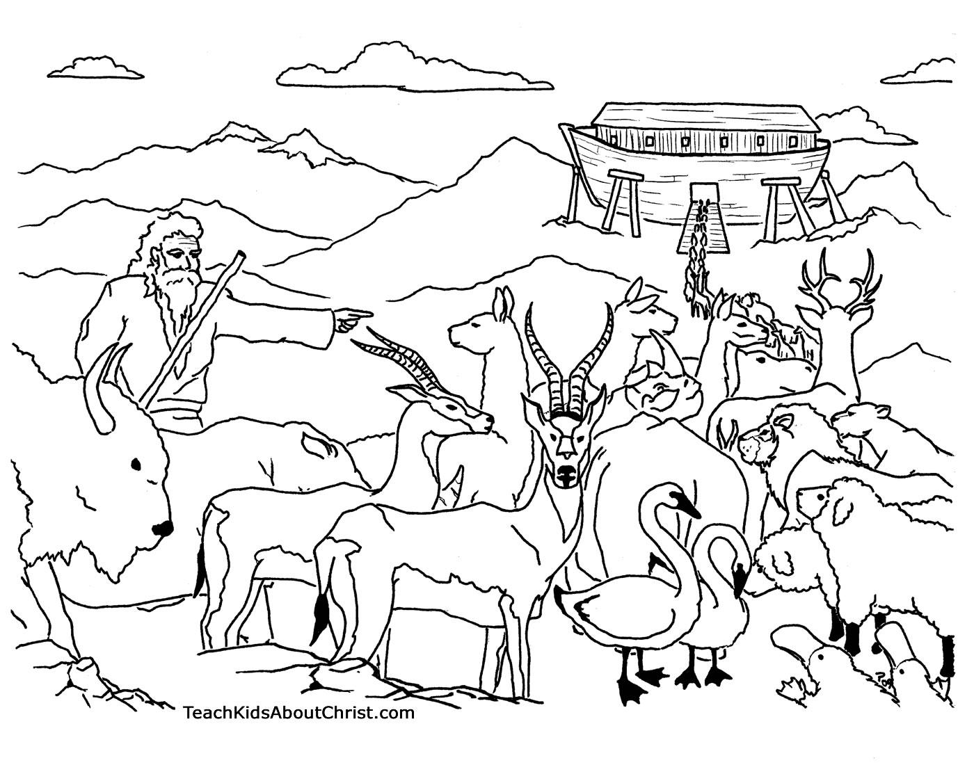 Noah Coloring Page