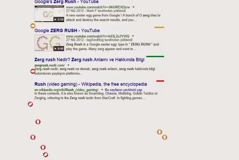 Google'da Zerg Rush Oyunu