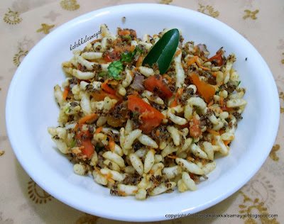 Bhel Puri with Ragi flakes