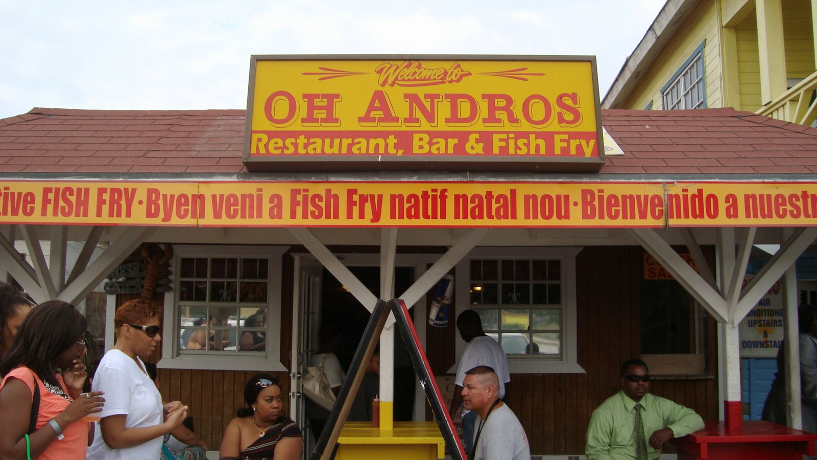 Bahamas eats oh andros at fish fry for Fish fry in my area