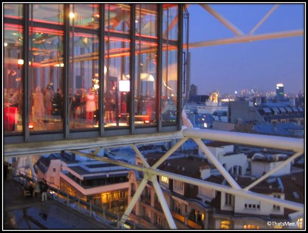 café restaurant Le George Centre George Pompidou Beaubourg vue structure metallique terrasse