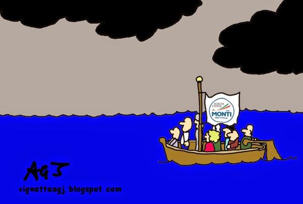 Scelta Civica, PD, Renzi, migranti, satira , vignetta