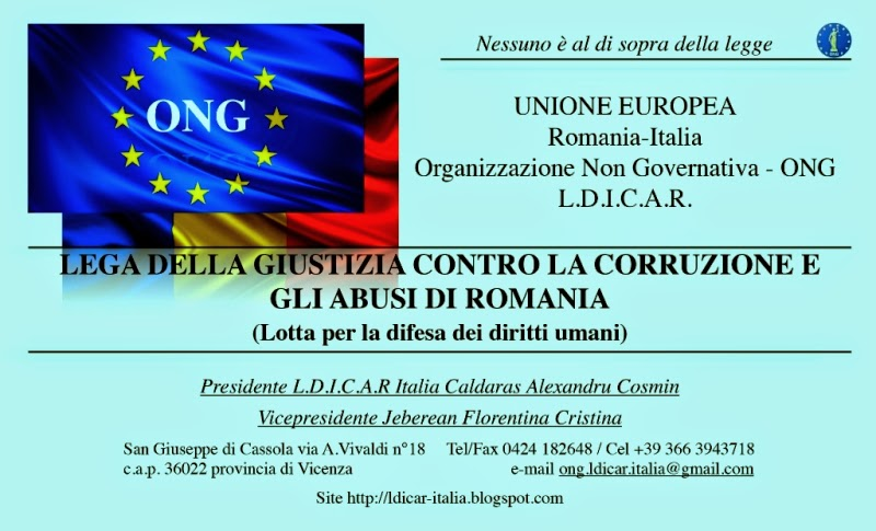 Centro d'Italia Justice League contro la corruzione e gli abusi in Romania-Europa (Lotta per difere