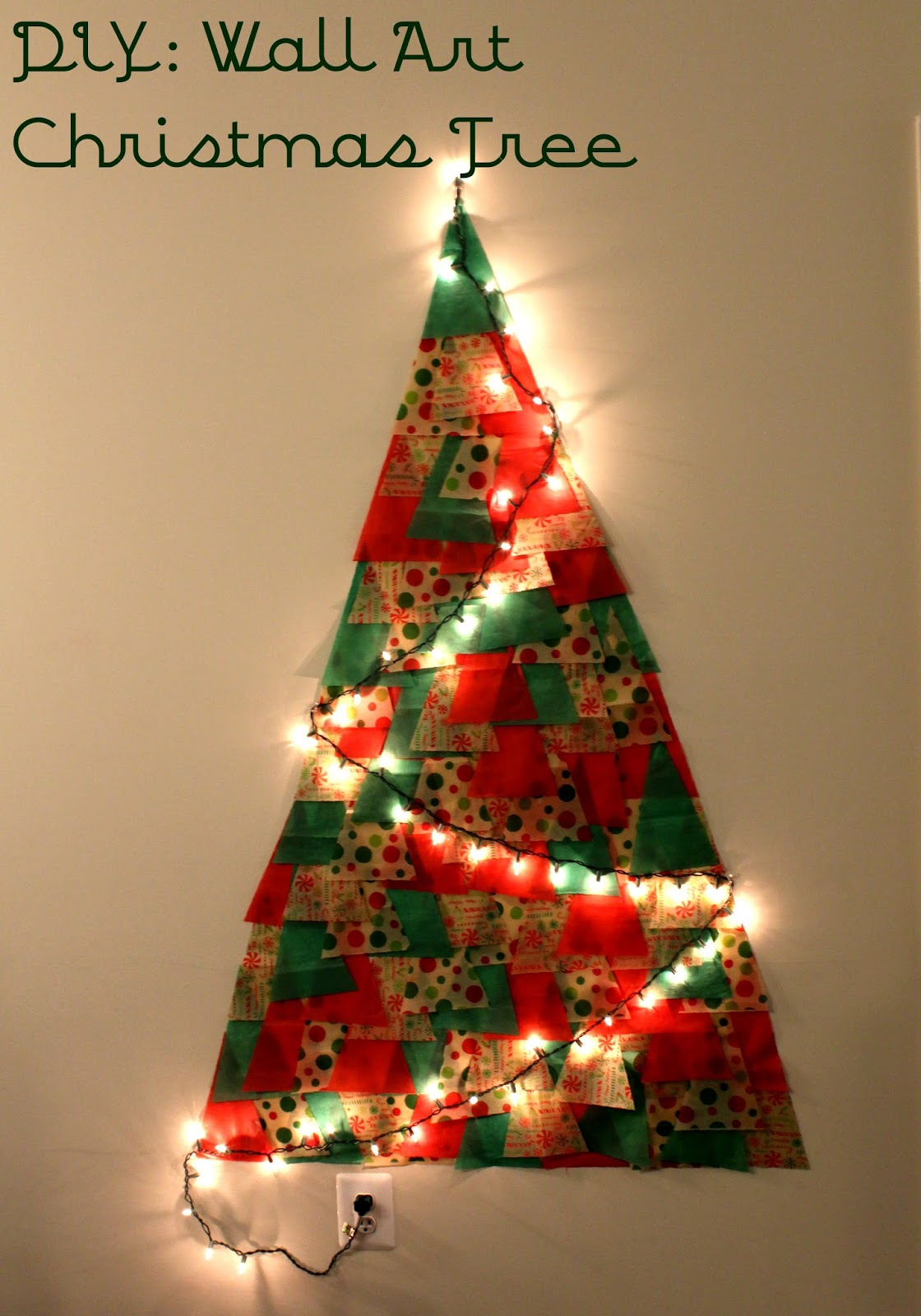 Liamaria Christmas Tree Wall Decoration : From woo to you december