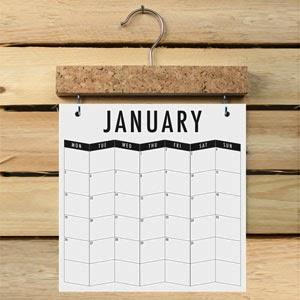 Ma Bicyclette - Buy Handmade - Calendars & Diaries - Pinboard Calendar