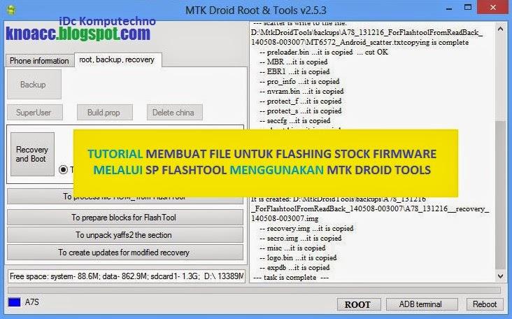Membuat ROM Android untuk Flashing dengan SP Fashtool