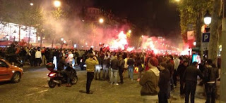 Violents incidents sur les Champs Elysées (Supporters PSG)