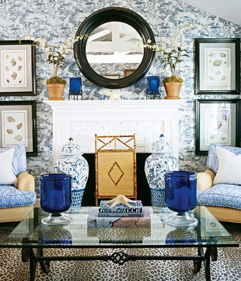The wabi sabi shop pattern and texture - Blue wallpaper living room ...