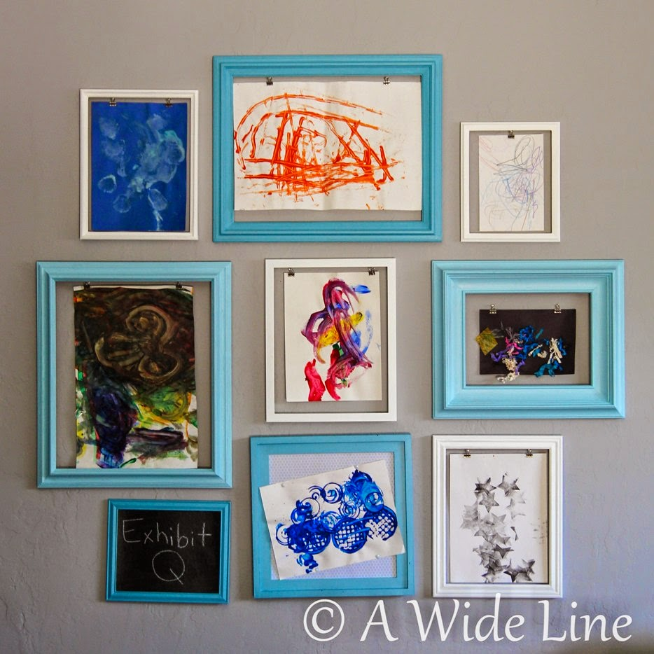 A Wide Line: DIY wall display for kiddo art projects ...